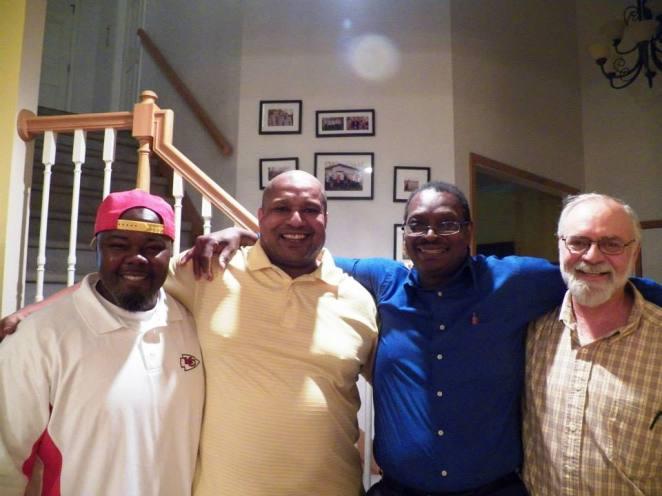 Jerome at a party for a friend. (Previn Mingo, Anthony Glasco, Jerome and Harold Mattox)
